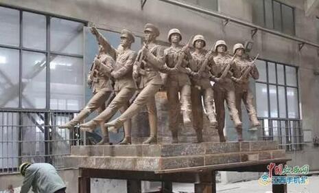 """南昌建军雕塑广场9座雕塑将于""""八一""""亮相"""