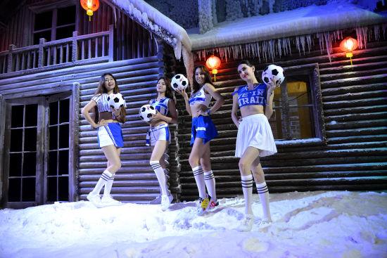 足球宝贝畅玩篁岭冰雪馆