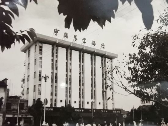1987年建成农行赣州市支行国商储蓄所,现为农行章贡支行办公大楼。(房耀丽供图)