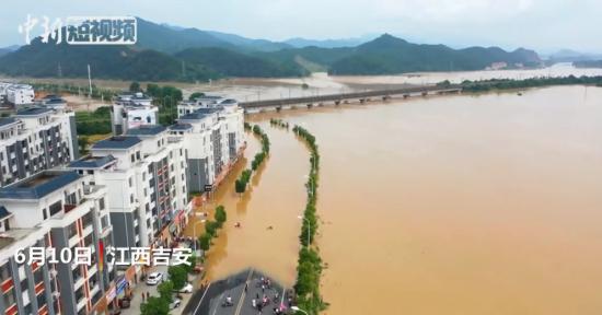 江西强降雨致181.9万人受灾 航拍直击洪灾受淹地区