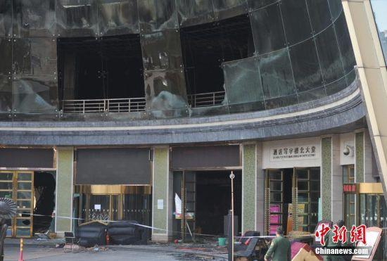 """龙8国际娱乐网址""""2.25""""火灾现场封闭 警方进行调查取证"""