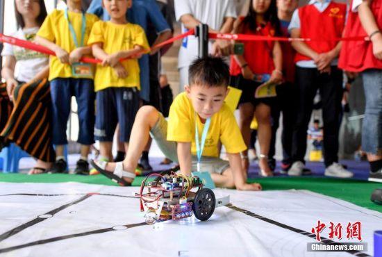 龙8国际娱乐手机登录新余举办青少年创客机器人大赛