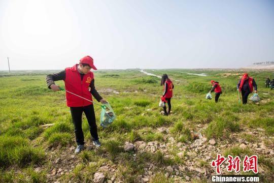 """龙8国际娱乐手机登录鄱阳湖 千余志愿者""""清湖""""在行动"""