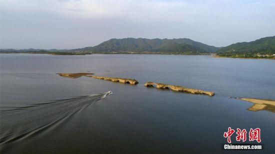 仙女湖水位降至近年最低 分宜古城显遗址