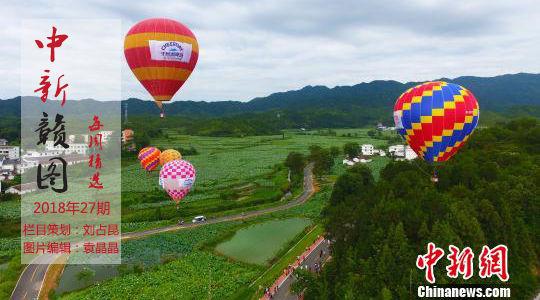 最大莲池 飞越热气球——中新赣图·每周精选