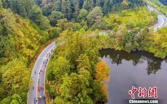 """龙8国际娱乐手机登录仙女湖国际马拉松""""湖光山色""""中开跑"""