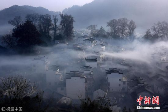 冬日石城龙8国际娱乐手机登录上饶烟雾弥漫分外妖娆
