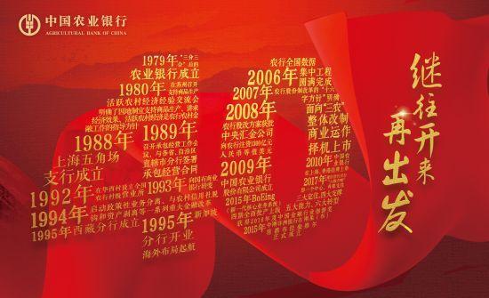 中国农业银行纪念改革开放四十周年