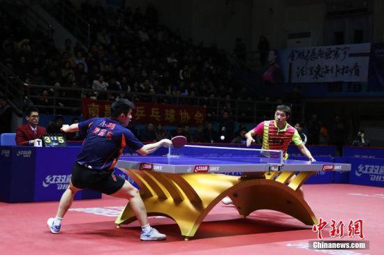 中国乒超联赛男团龙8国际娱乐网址上演精彩对决