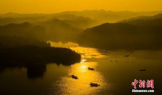 江西仙女(nv)湖冬日巨網首捕12.5萬(wan)斤有機魚